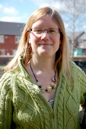 Pic of Helen for Green party leaflet